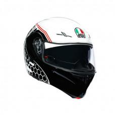 шлем AGV COMPACT ST - DETROIT WHITE/BLACK